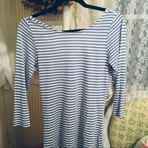 Cupcakes &Cashmere Tee  - S Blue Striped NWOT,